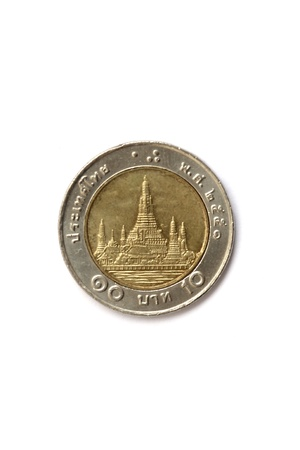 ten baht Thai coin