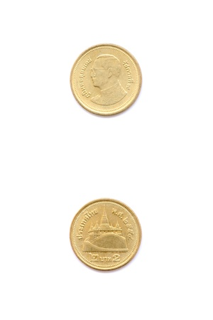 two baht Thai coin