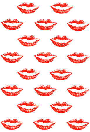 lipstick marks Stock Photo