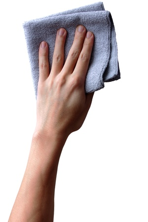 wipe with a cloth