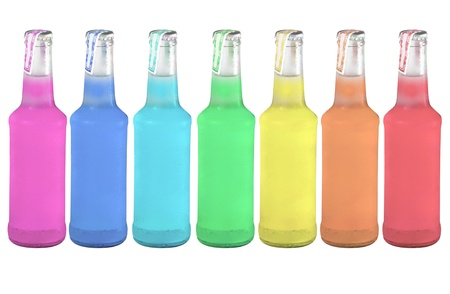 colorful cold drinks Stock Photo