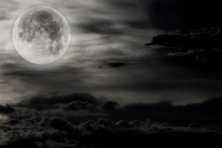night sky with moon and clouds Stock Photo - 15440137