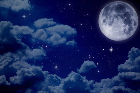moon and stars: night sky