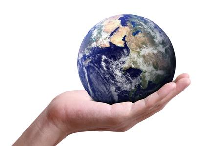 creador: globo en la mano