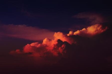 the night sky: cloudy dark sky Stock Photo