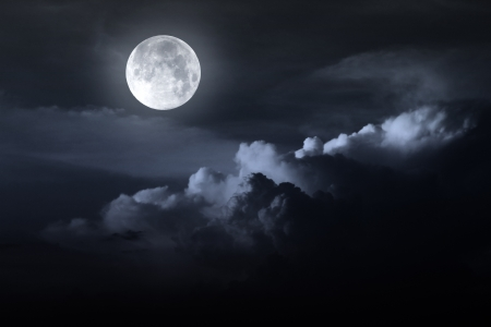 night sky with moon Stock Photo - 16160199