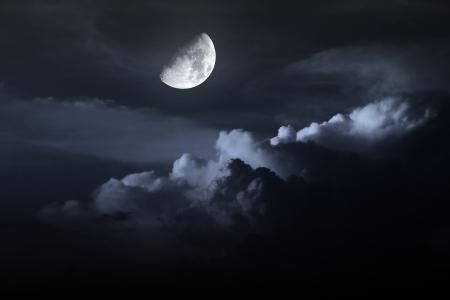 night sky with moon Stock Photo - 16160197