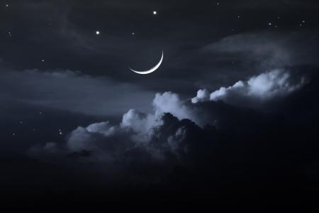 night sky with moon Foto de archivo