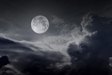 night sky with moon Stock Photo - 16160190