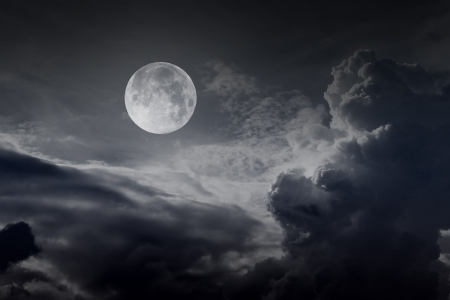 night sky with moon Stock Photo - 16160190