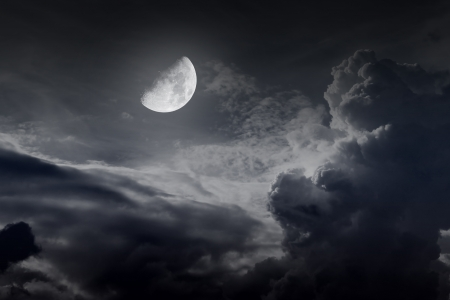 night sky with moon Stock Photo - 16160191