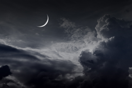 night sky with moon Stock Photo - 16160188
