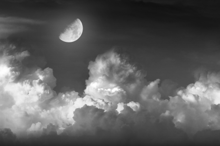 night sky with moon Stock Photo - 16271249