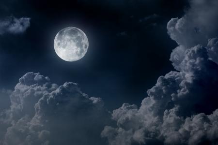 sky night: night sky with moon Stock Photo