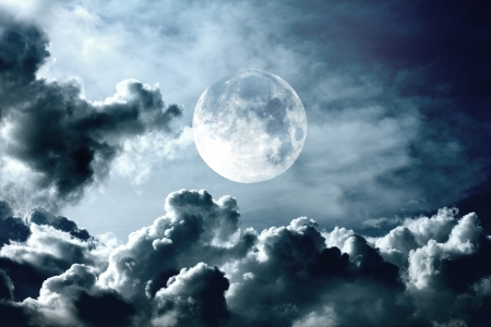 night sky with moon Stock Photo - 16373928