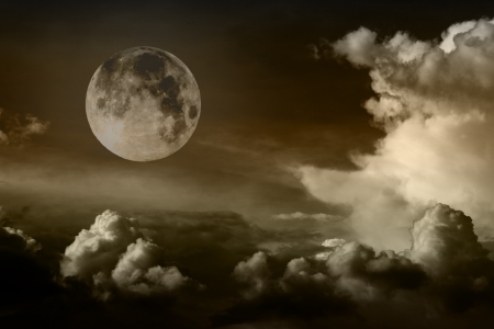 night sky with moon Stock Photo - 16373924