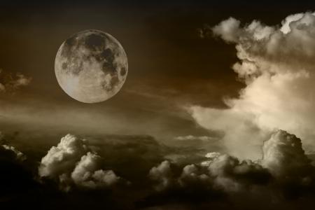 night sky with moon Stock Photo - 16373924