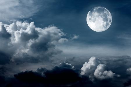 night sky with moon Stock Photo