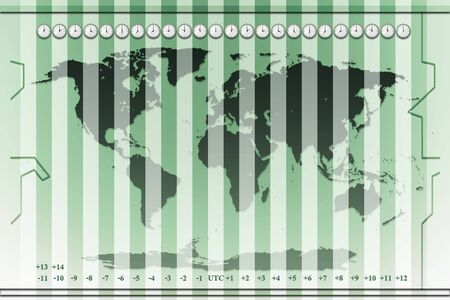 time zone: time zones world map background