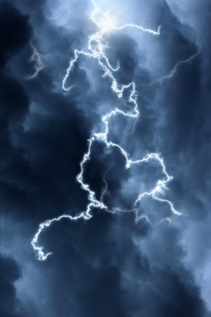 clouds and lightning photo