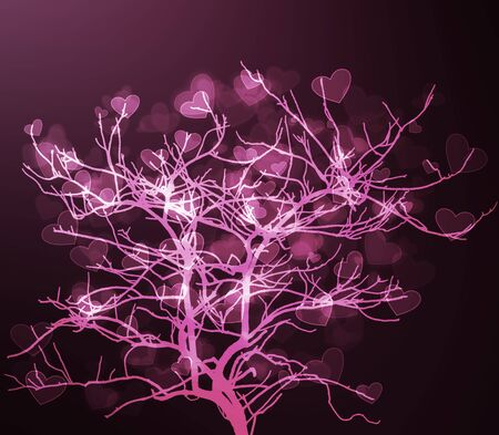 heart tree abstract background photo