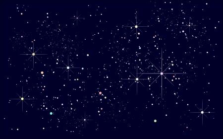 night sky: bầu trời đêm đầy sao
