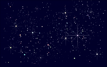sterrenhemel Stock Illustratie