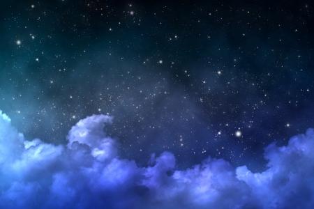 noche: estrellado escena espacio
