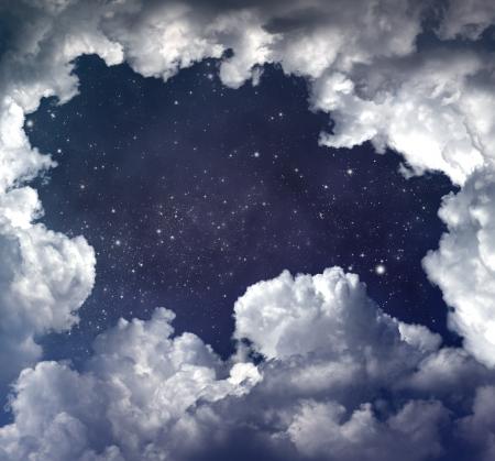 starry sky: starry space scene