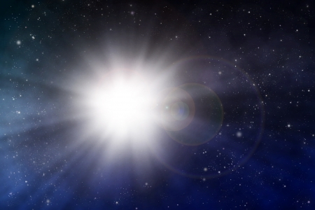 explosion space scene Stock Photo