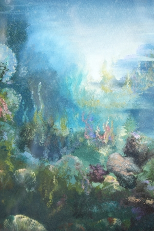 under the sea : oil color painting photo