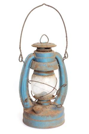 antique kerosene lamp isolated on white background Stock Photo