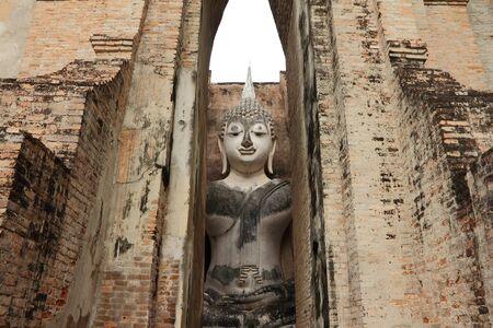 SUKHOTHAI, THAILAND - JULY 22 : Buddha statue in Sukhothai Historical Park, Sukhothai - Thailand on July 22, 2013 Editorial