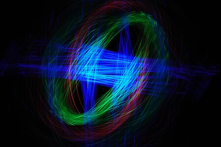 light painting: circular of color light painting