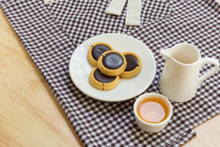 tea break: Chocolate Cookie for Tea Break Stock Photo