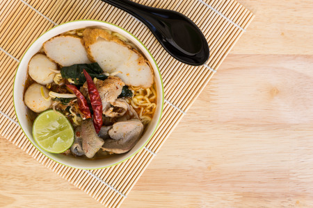 thai noodle soup: Tom Yum Noodle : Thai Food