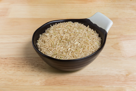 uncooked: Uncooked Jasmine Brown Rice Stock Photo