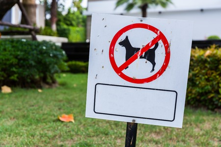sign blank: No Dog Sign, Blank