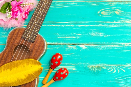 Ukulele with Hawaii Style Background