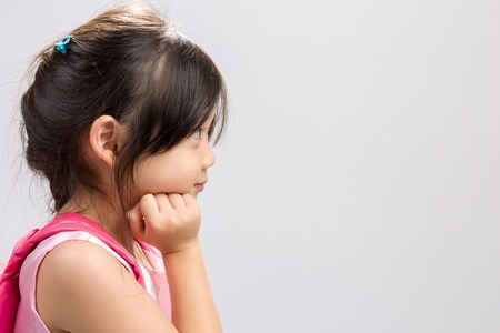 kid portrait: Kid Thinking Background