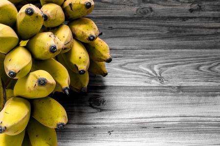 banana: Ripe Banana on Vintage Background Stock Photo