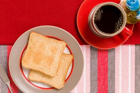 breakfast: Desayuno con café Antecedentes Foto de archivo