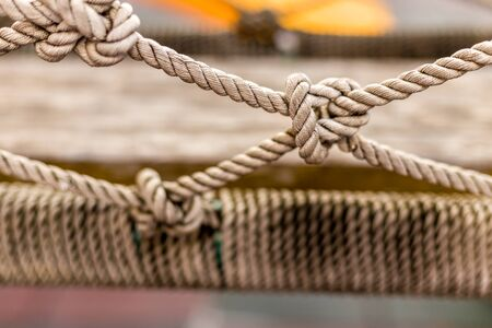revealing: Close-up Rope Knot Revealing Texture