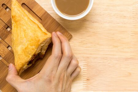 puff: Puff Pastry Background Stock Photo