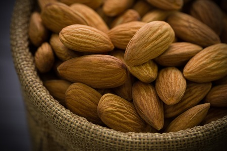 Almond in Sack Close-up