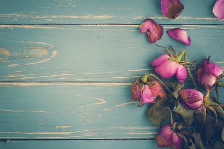 しおれた花ビンテージ背景