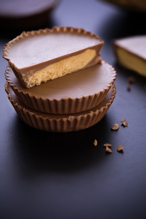 Peanut Butter Cup Stack Stock Photo