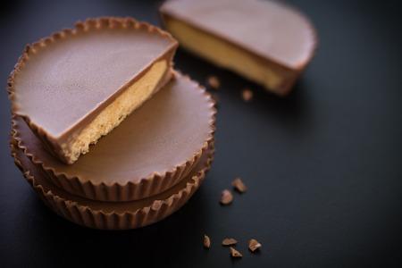 mantequilla: Bocado del chocolate de mantequilla de man�
