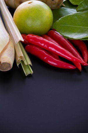 yum: Tom Yum Ingredient Background