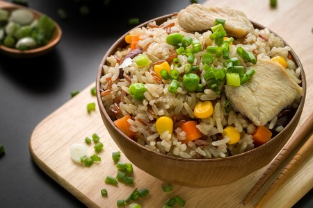 bowl with rice: Fried Rice, Japanese Style